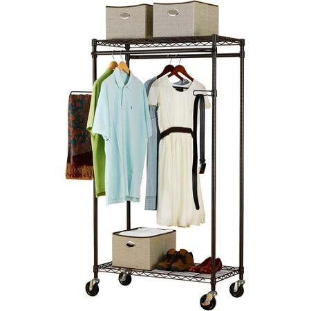 Walmart Clothes Hanger Rack Beauteous Canopy Heavyduty Garment Rack Bronze  Garment Racks Canopy And House Inspiration Design