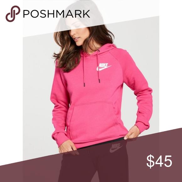 (NWT) Nike Hot Pink Sportswear Rally Hoodie Super bold