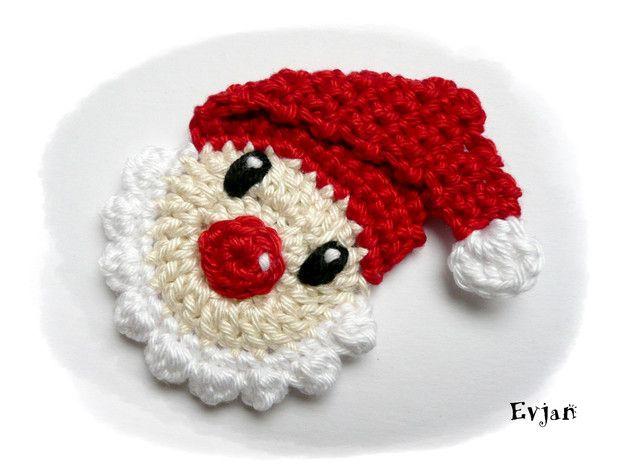 ♥ Weihnachtsmann - Häkelapplikationen ♥