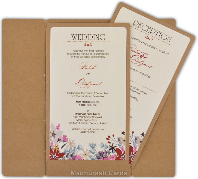 Customized Wedding Invitations CZC-8827 by Madhurash Cards Made up ...