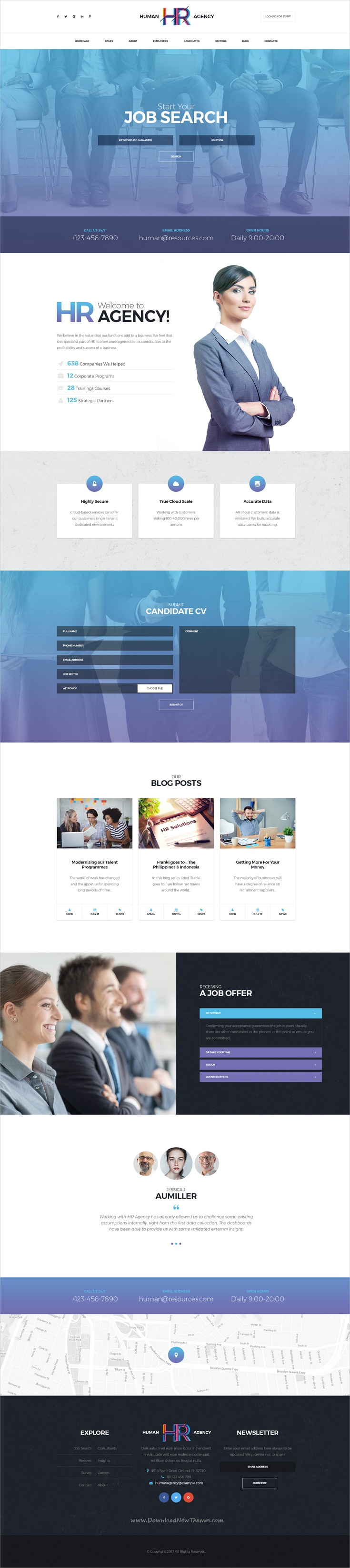 human agency is clean light and airy psd template crafted