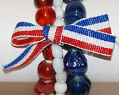 Glass bead Bracelets Ready for the 4th of July