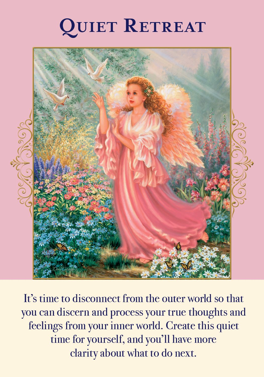 Oracle Card Quiet Retreat Doreen Virtue Official Angel