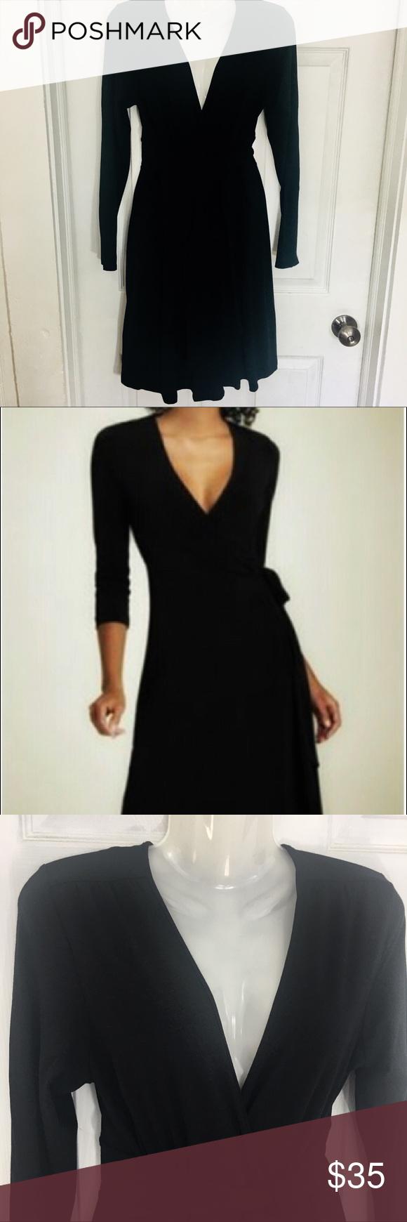 Cynthia rowley black long sleeve wrap dress cynthia rowley wrap