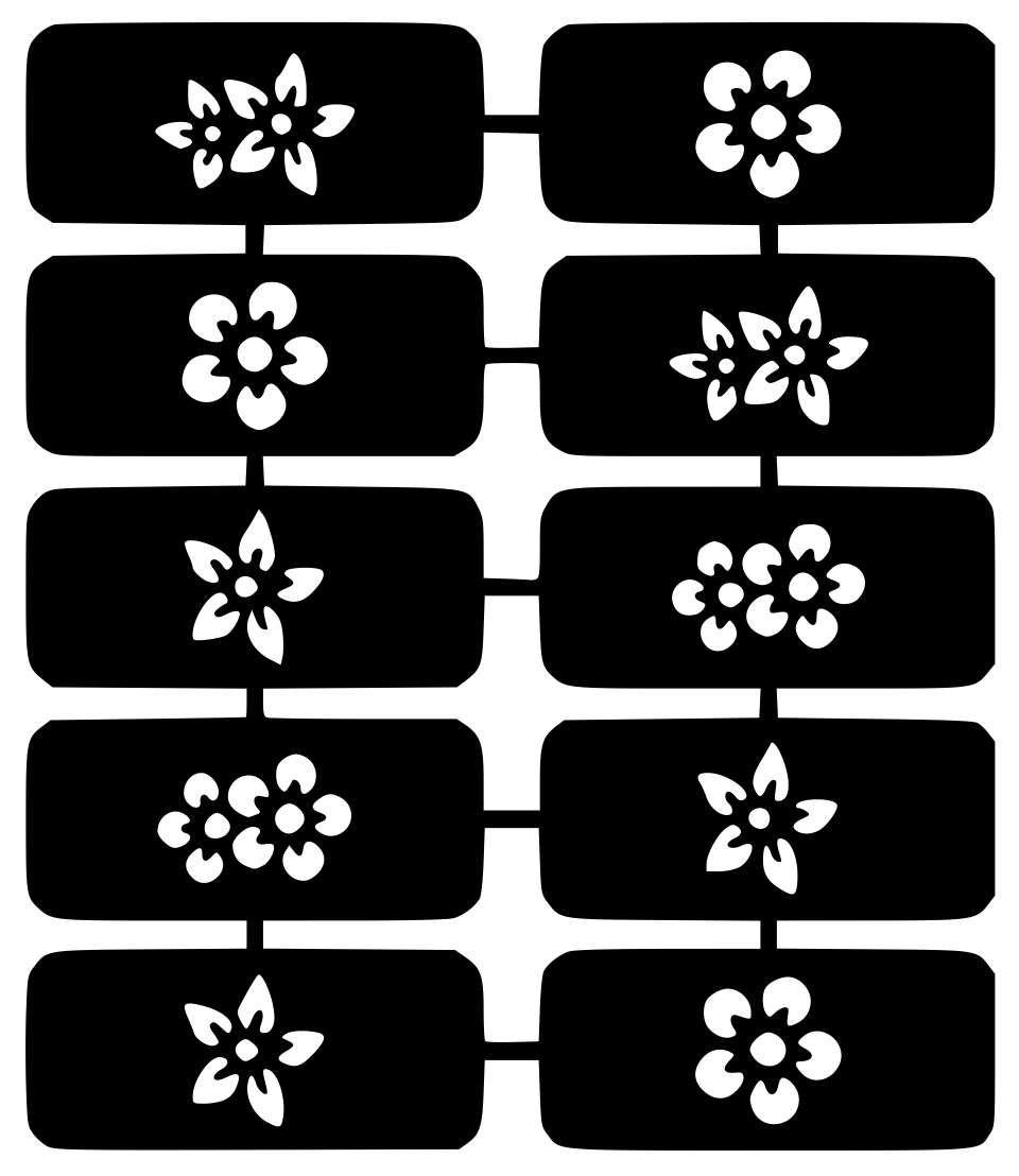 New Designs Nail Art Stencils Vinyl Decal Stickers Manicure Airbrush ...