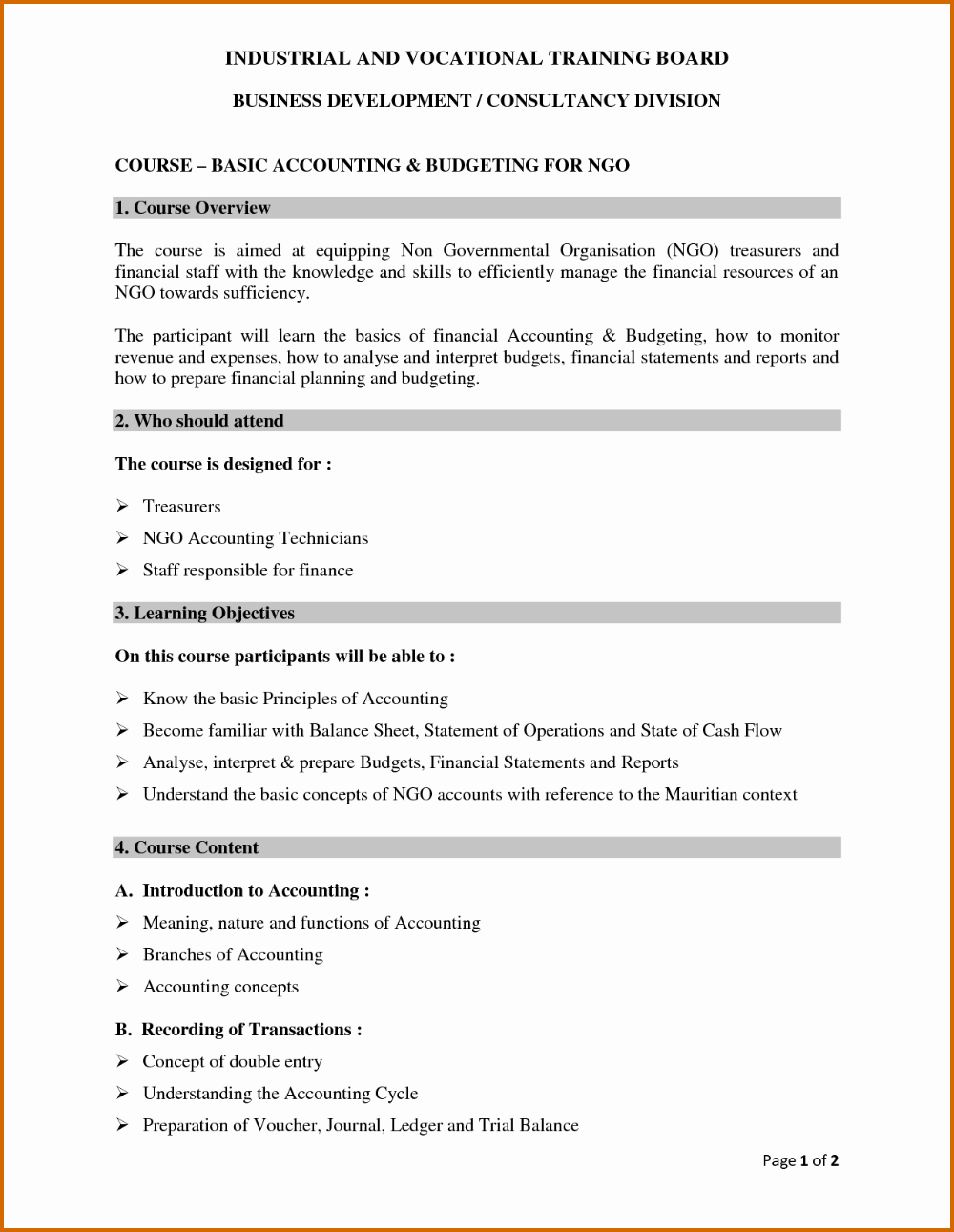 Treasurer Report Template Non Profit Unique Sample Ers Monthly Pdf