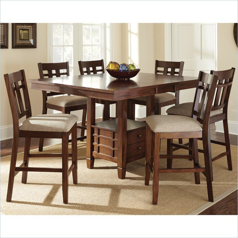 Bolton Counter Height Dining Table With Butterfly Leaf In Dark Oak