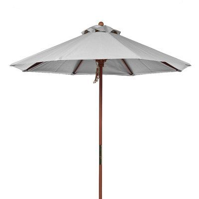 Frankford Umbrellas 9 ft. Octagonal Commercial Grade Wooden Market Umbrella Fabric: