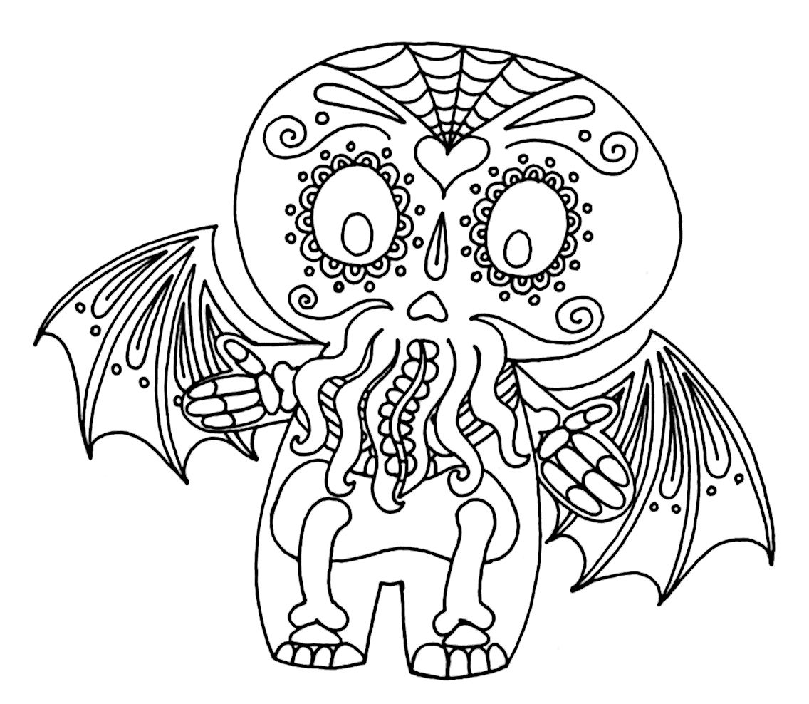 Wenchkin S Coloring Pages Hello Calacathulhu Coloring Pages