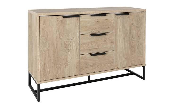 Buy Argos Home Nomad 2 Door 3 Drawer Sideboard Light Oak Effect Sideboards Argos Home Light Oak Sideboard Furniture