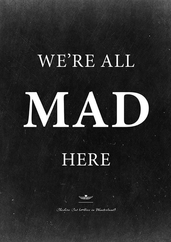 Alice in Wonderland mad tea party decor: We're All Mad   Etsy