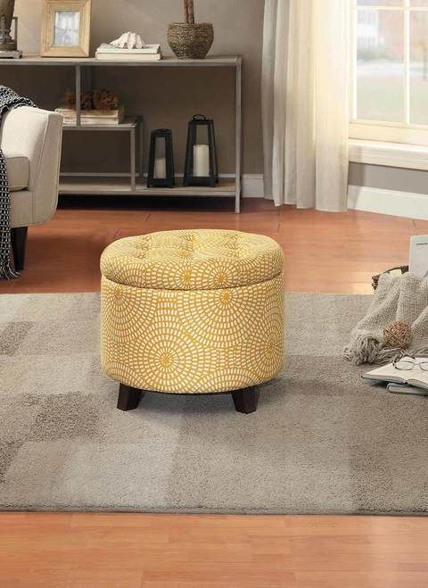 Homelegance Cleo Collection Storage Ottoman 4500 F3
