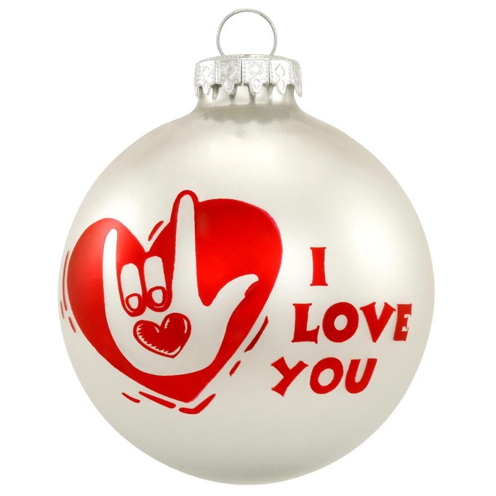 I Love You Sign Language Ornament