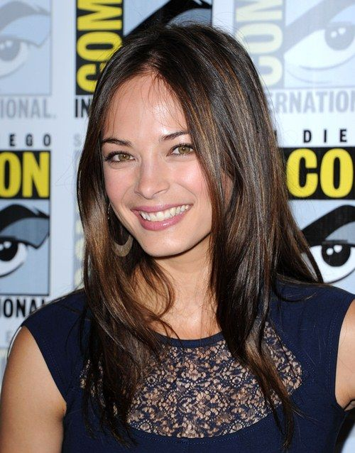 Kristin Kreuk Navy Dress Beauty Multifaceted Multiracials