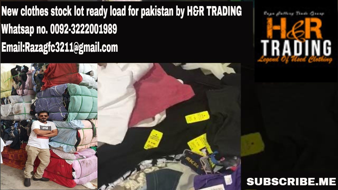 New clothes stock lot ready load for pakistan by H&R TRADING