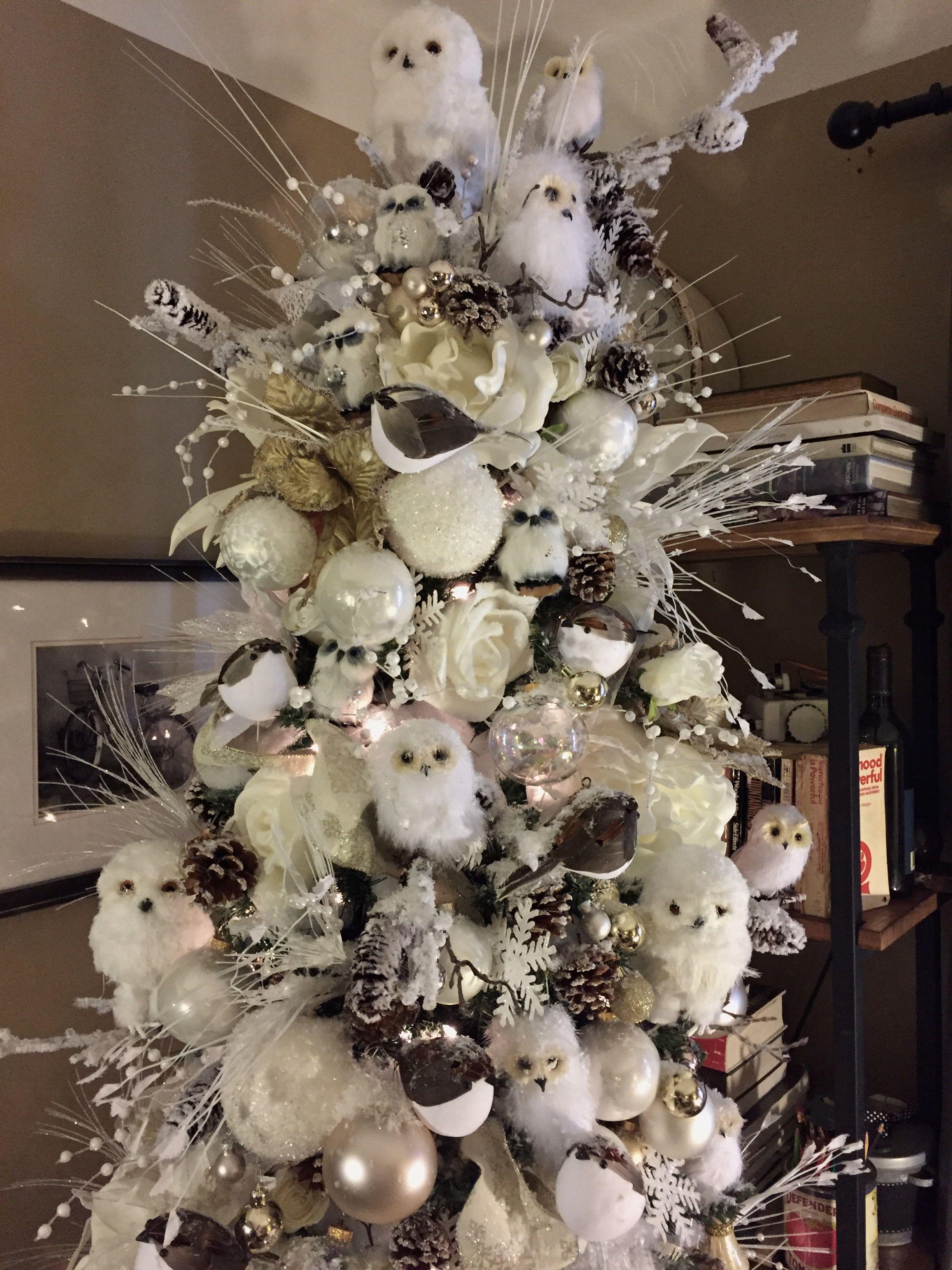 All White Christmas Tree Our Snowy White Owl Christmas Tree NYC