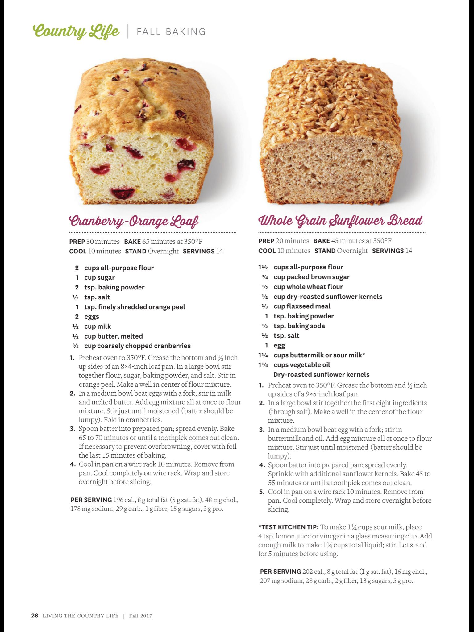 Quick Breads From Living The Country Life Fall 2017 Read It On The Texture App Unlimited Access To 200 Top Magazines Fall Baking Dessert Recipes Bread