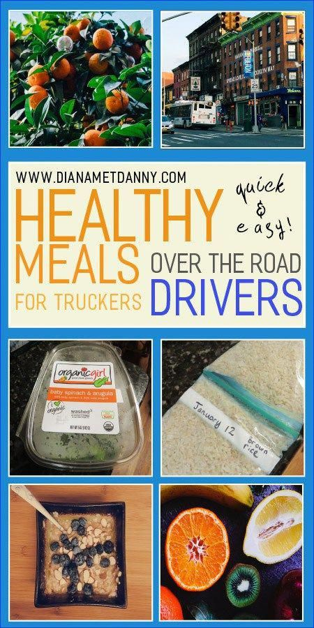 Find out how to create healthy, quick and easy meals for an over the road driver. I am married to a trucker, and I've gathered together resources to create a healthy eating plan for your husband on the road. #healthyliving #iammarried