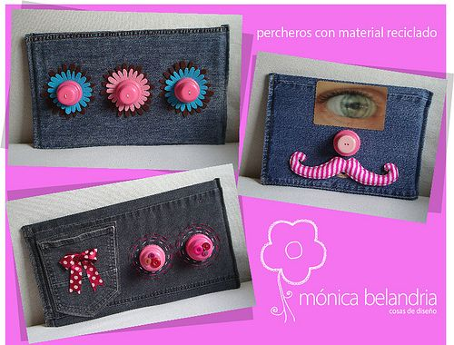 perchero para niñas con material de desecho  (recycle girls wall hanger)