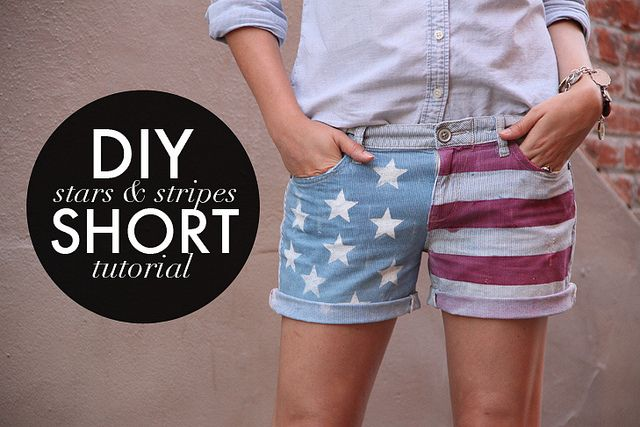 American Flag Shorts on WhatIWore.tumblr.com by What I Wore, via Flickr