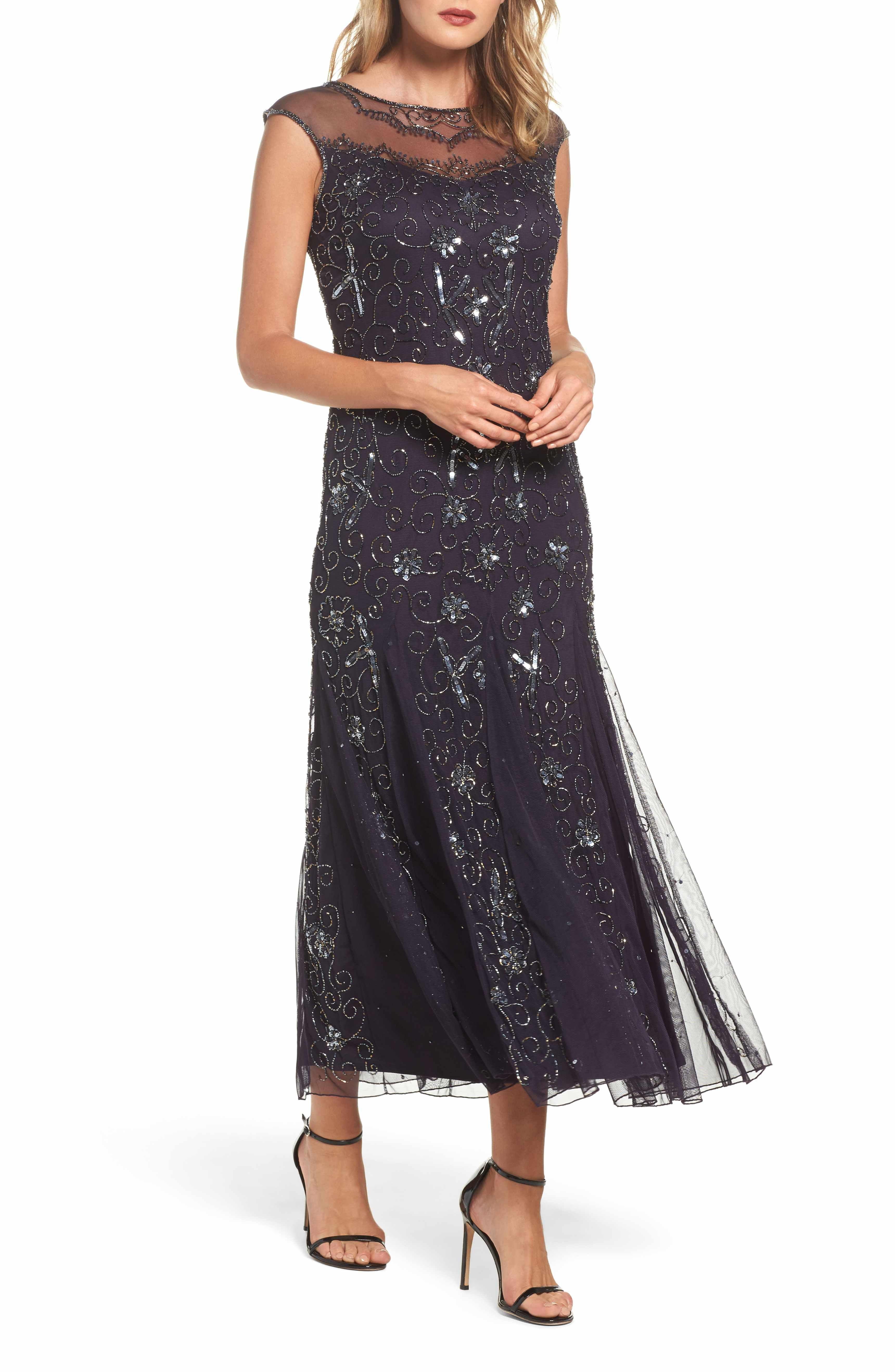 Main Image Pisarro Nights Embellished Midi Dress Regular Petite