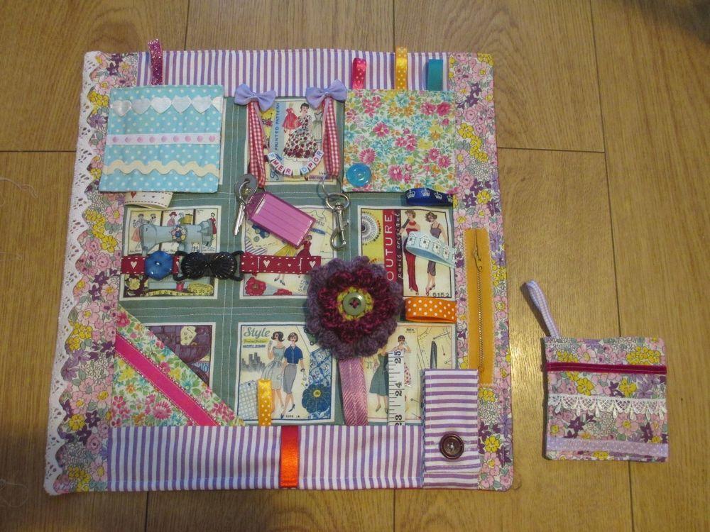 Fidget Lap Quilt Sensory Dementia Stimulation Quilt Ladies Lap Quilt Fidget Quilt Quilts