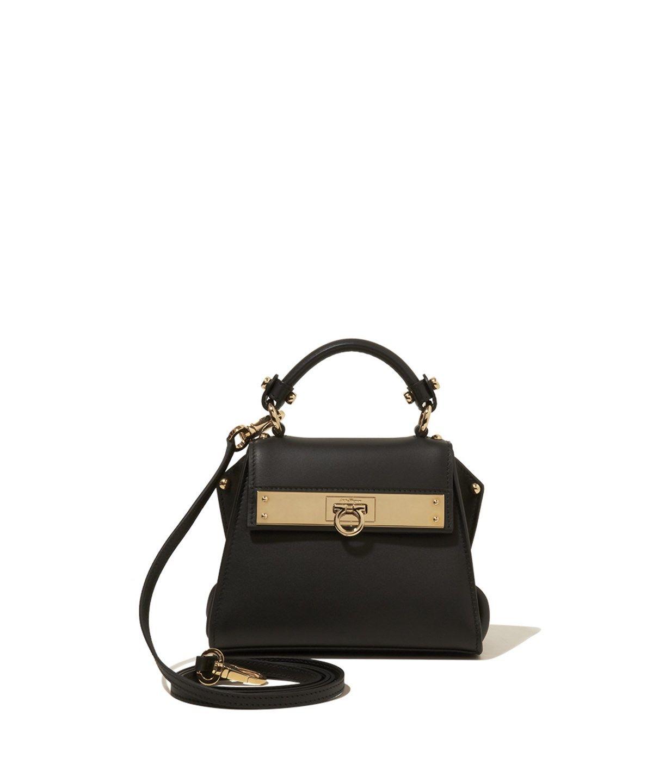 54a44426b3 SALVATORE FERRAGAMO Mini Sofia Bag Black .  salvatoreferragamo  bags  shoulder  bags  hand bags  leather