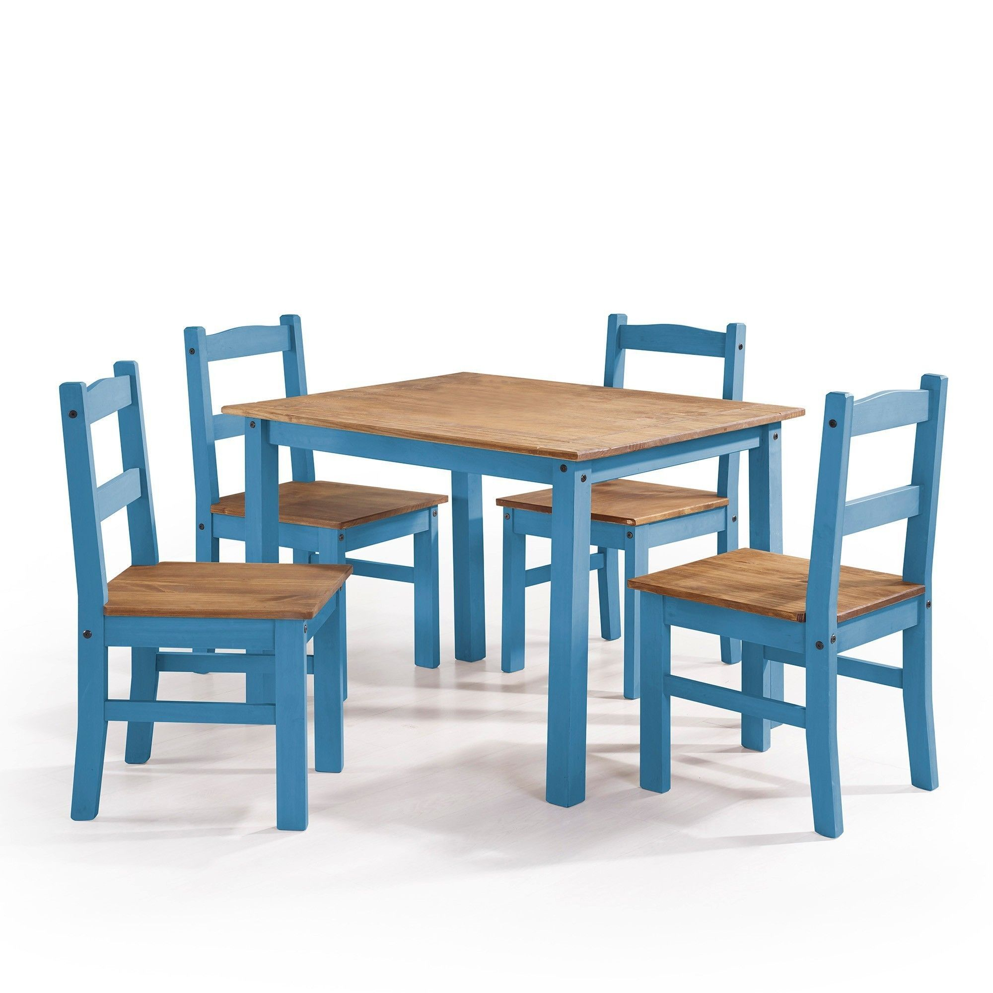 Manhattan Comfort York 5-Piece Solid Wood Dining Set with 1 Table ...