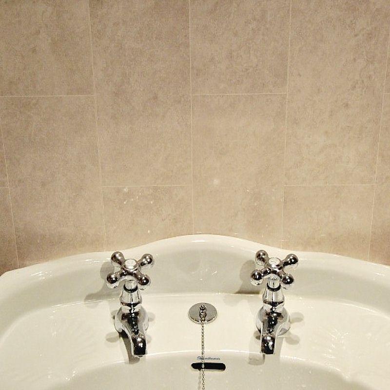 florentine beige tile effect panels  bathroom tiles beige