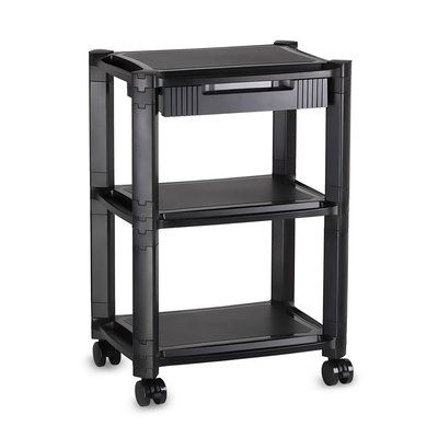 Mount It Printer Stand With Wheels And Drawer Products In 2019 Printer Stand Printer Cart Office Shelving