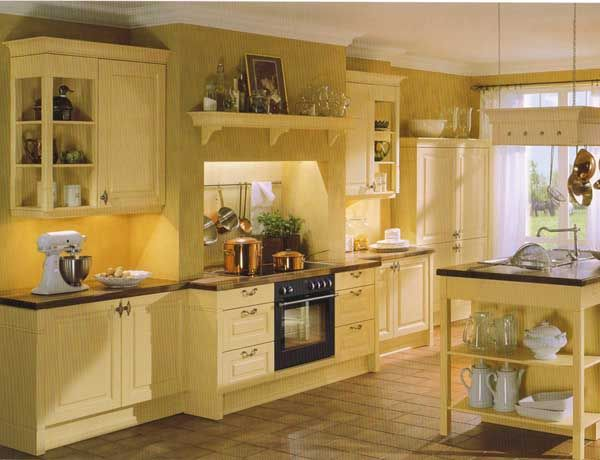 Yellow Country Kitchen Decor Tuscan Yellow Paint Color