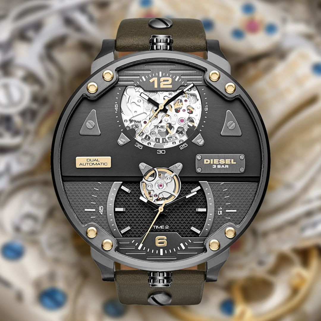 Watchismo Com On Instagram Diesel Goes Mechanical The First Ever Limited Edition Double Automatic Diesel Watch Now Diesel Watch Watches For Men Watch Design