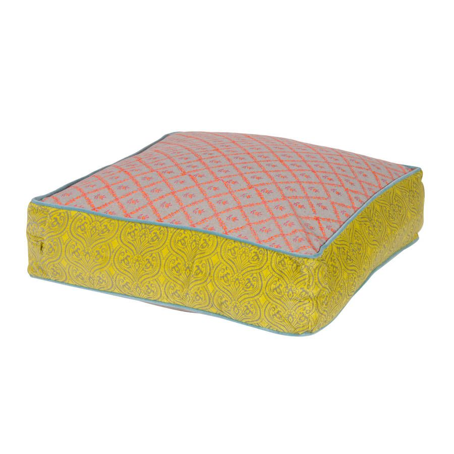 Large Floor Cushion In Pink And Blue Large Floor Cushions Floor Cushions Cushions