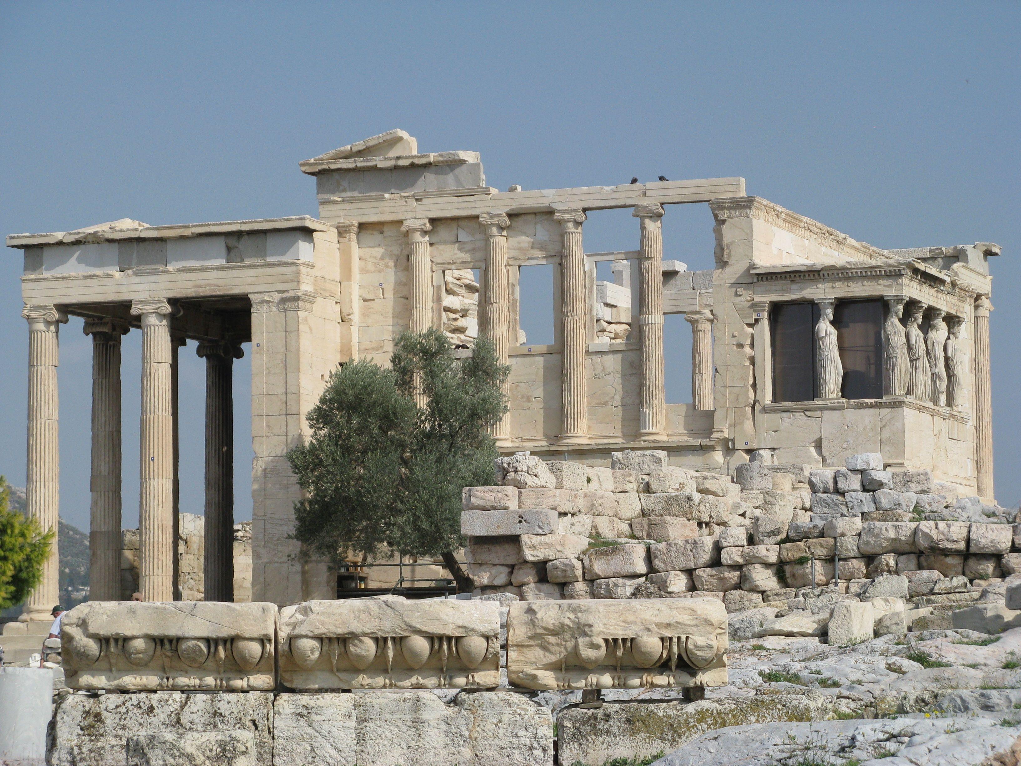 Temple of Erechtheum Acropolis Athens Greece Ancient Ruins