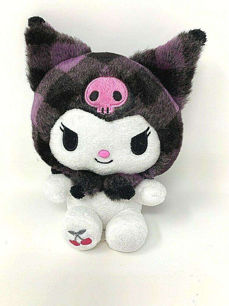 furyu My Melody black lace Big stuffed plush 30cm B Kuromi Nesoberi Kawaii japan