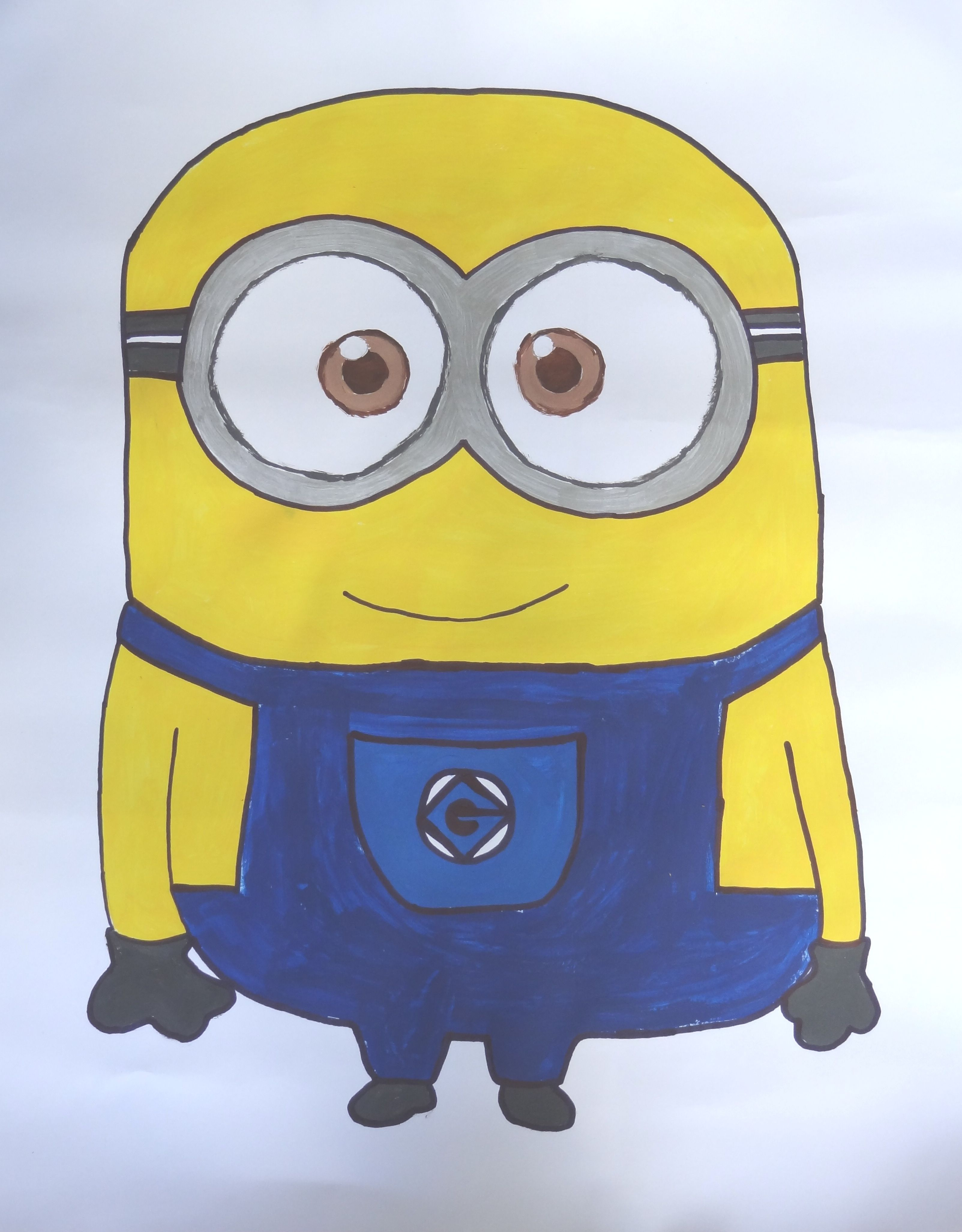 33743d1b6 Fabric Paint Designs · I've hand drawn and then painted this minion for a  kids birthday party.