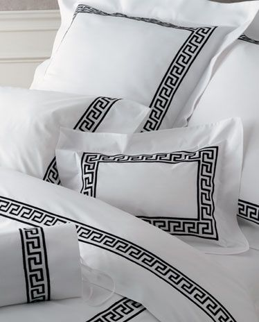 Matouk Embroidered Sheets & Bedding - Greek Key, 1000+ Colors @ J Brulee  Home