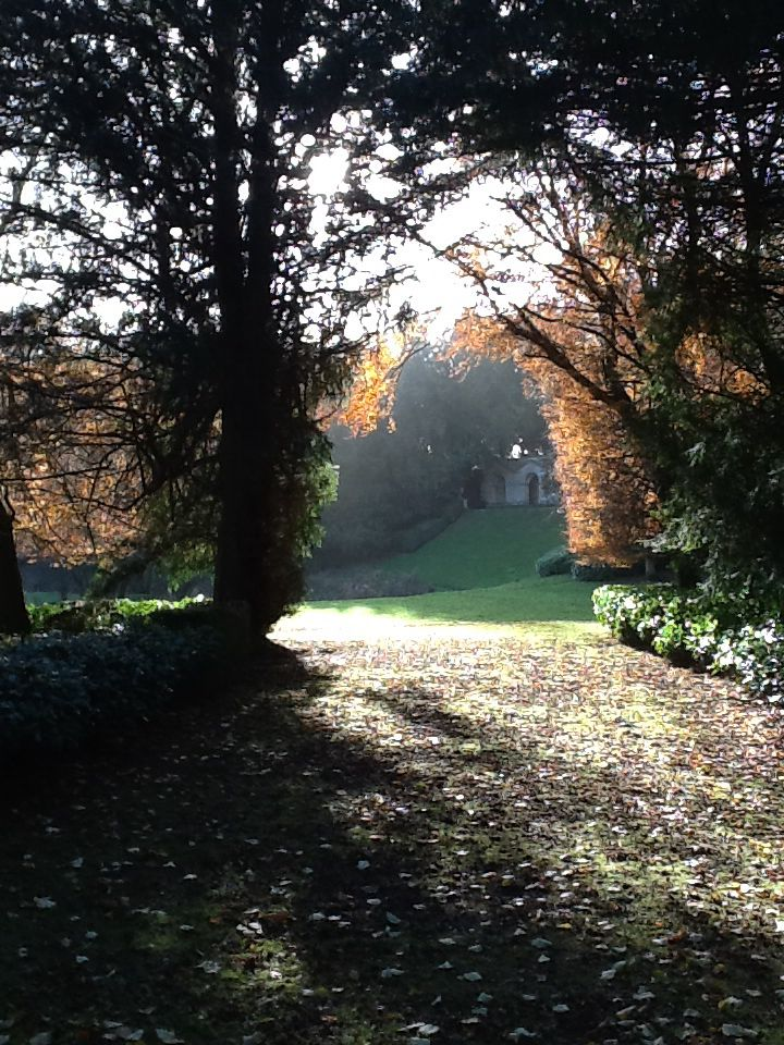 Vista, begun by Bridgeman and perfected by Kent. A sublime garden in ideal light and season (last day of Nov.)