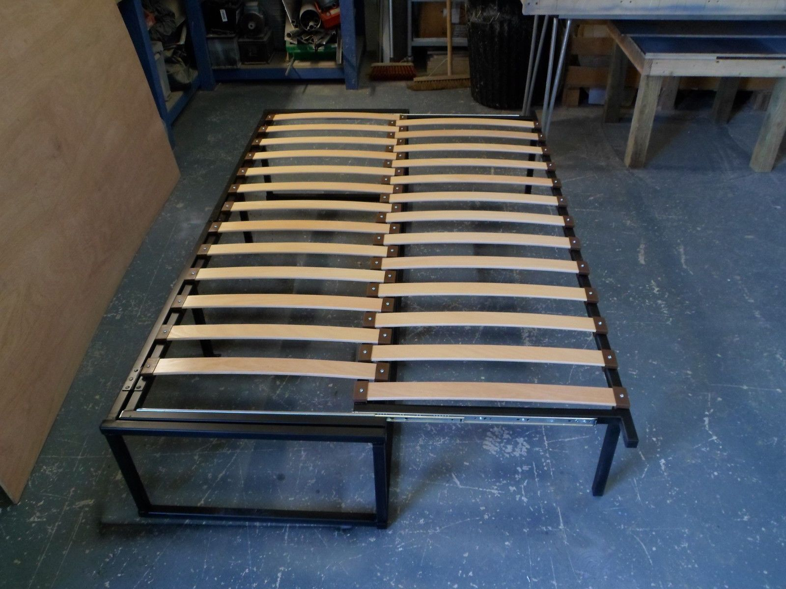 How To Build A Pull Out Slat Bed For Van Bed Slats Pull Out Bed