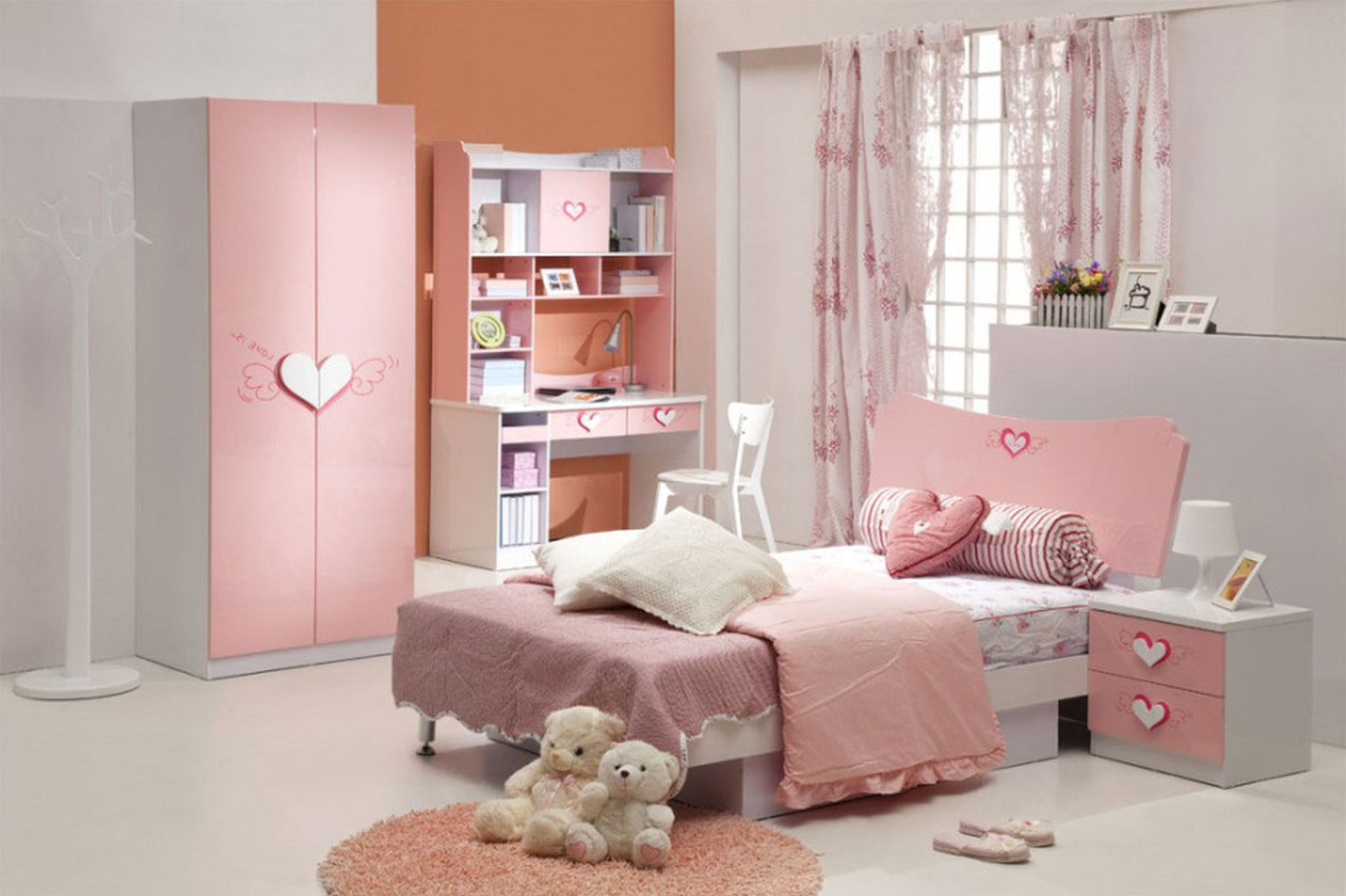 Cute Bedrooms Pinterest Set Interior tree branch standing hooks and cool girl bedroom decorating idea