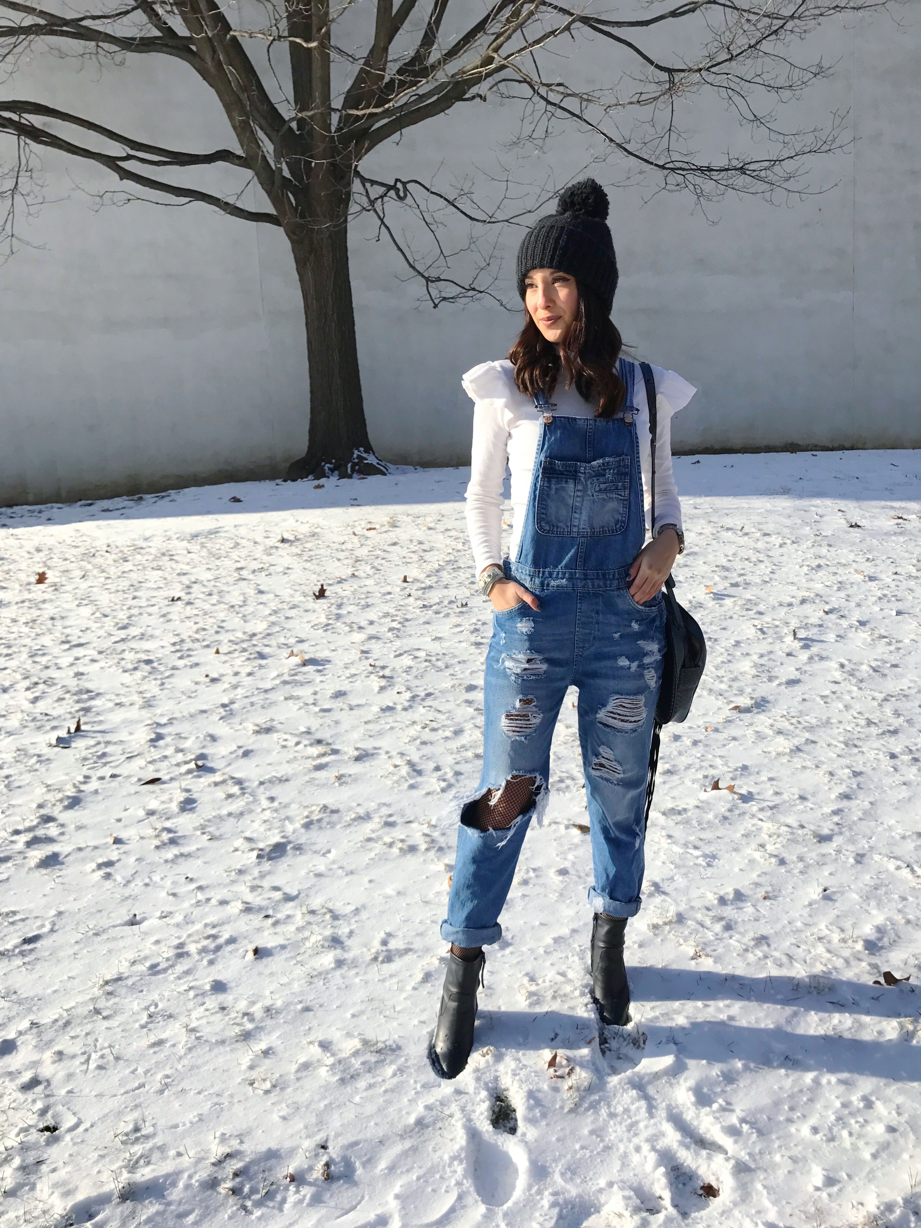 Ripped jeans for winter