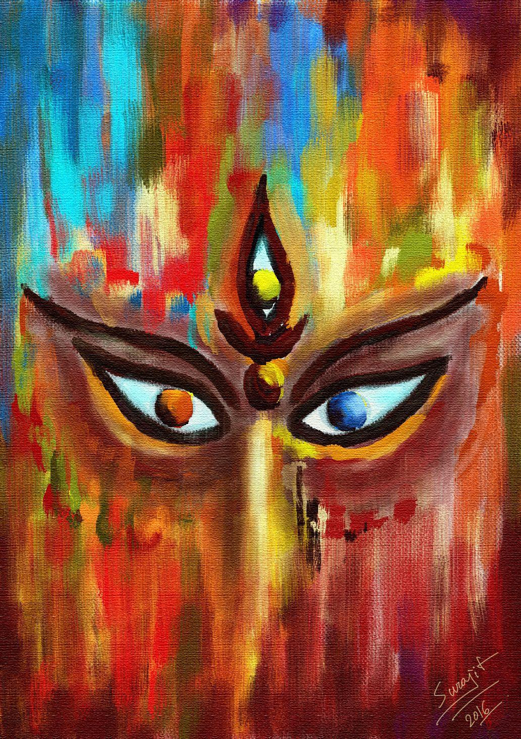 Surajit Sen Durga Painting Shiva Art Art