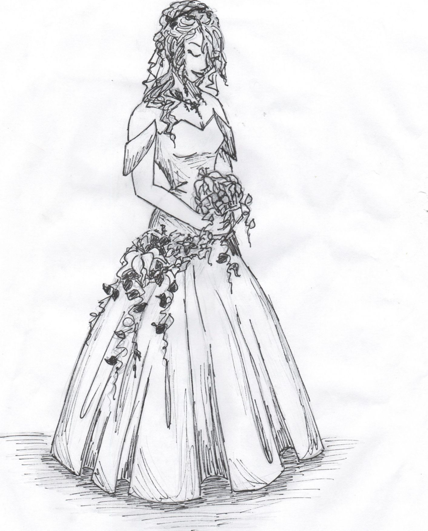 2019 Drawings Of Wedding Dresses - Dresses for Wedding Party Check ...
