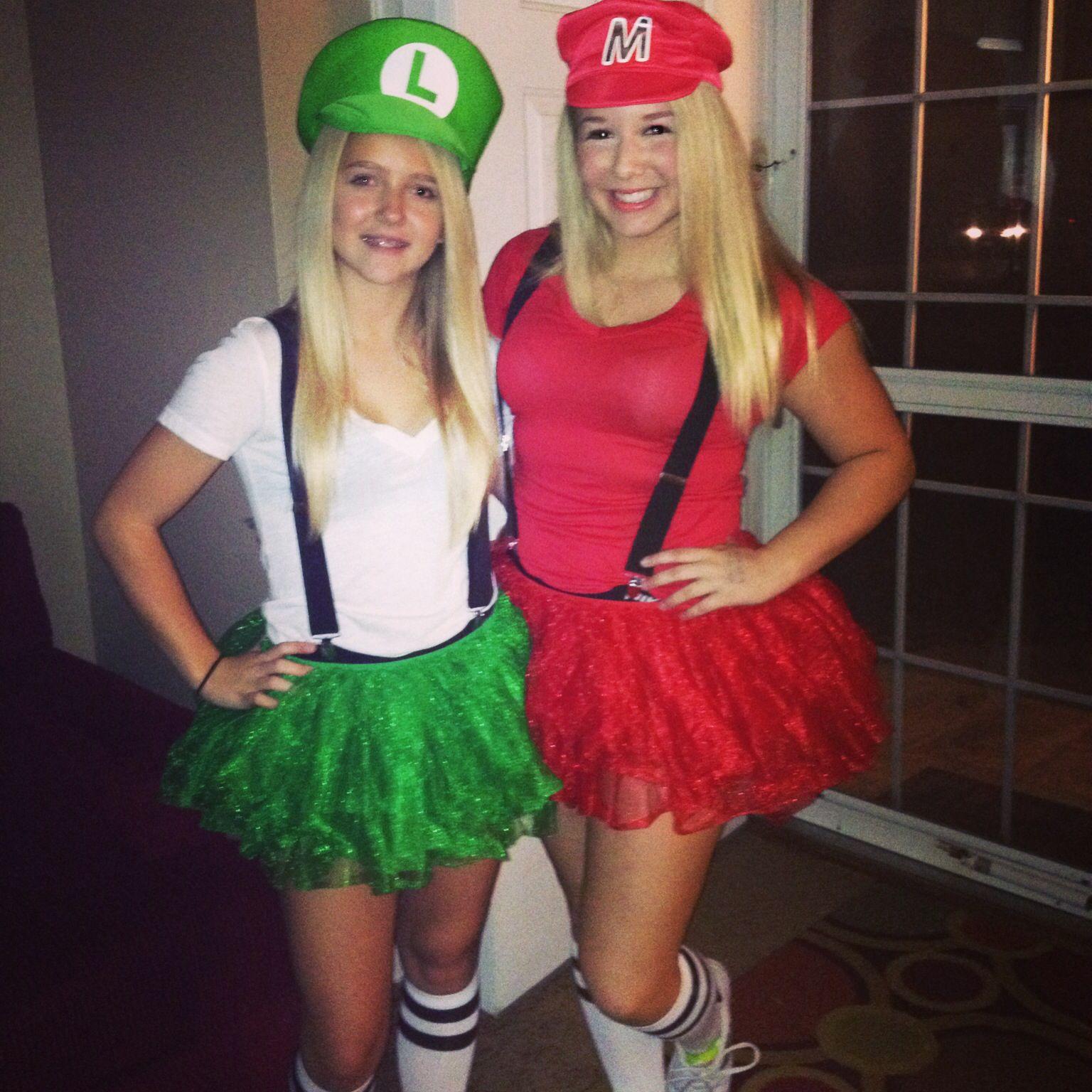 mario and luigi halloween costumes - Girl Mario And Luigi Halloween Costumes