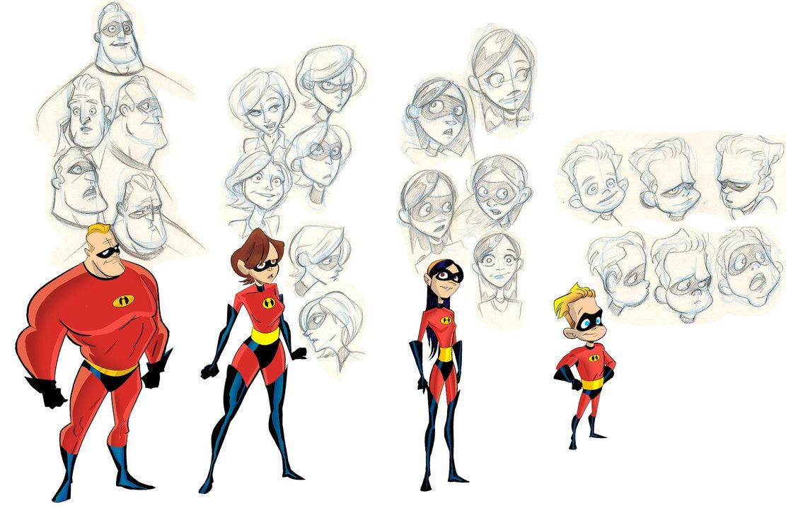Stephen Silver Character Design App : The incredibles by robbi character design and illustration