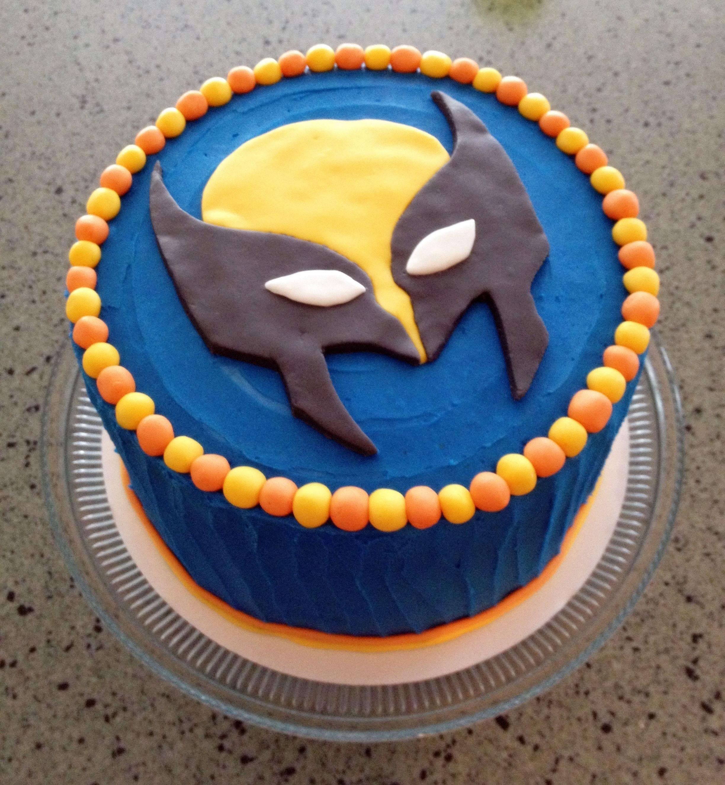 Magnificent Wolverine Or Superhero Birthday Cake Wolverine Cake Superhero Personalised Birthday Cards Veneteletsinfo