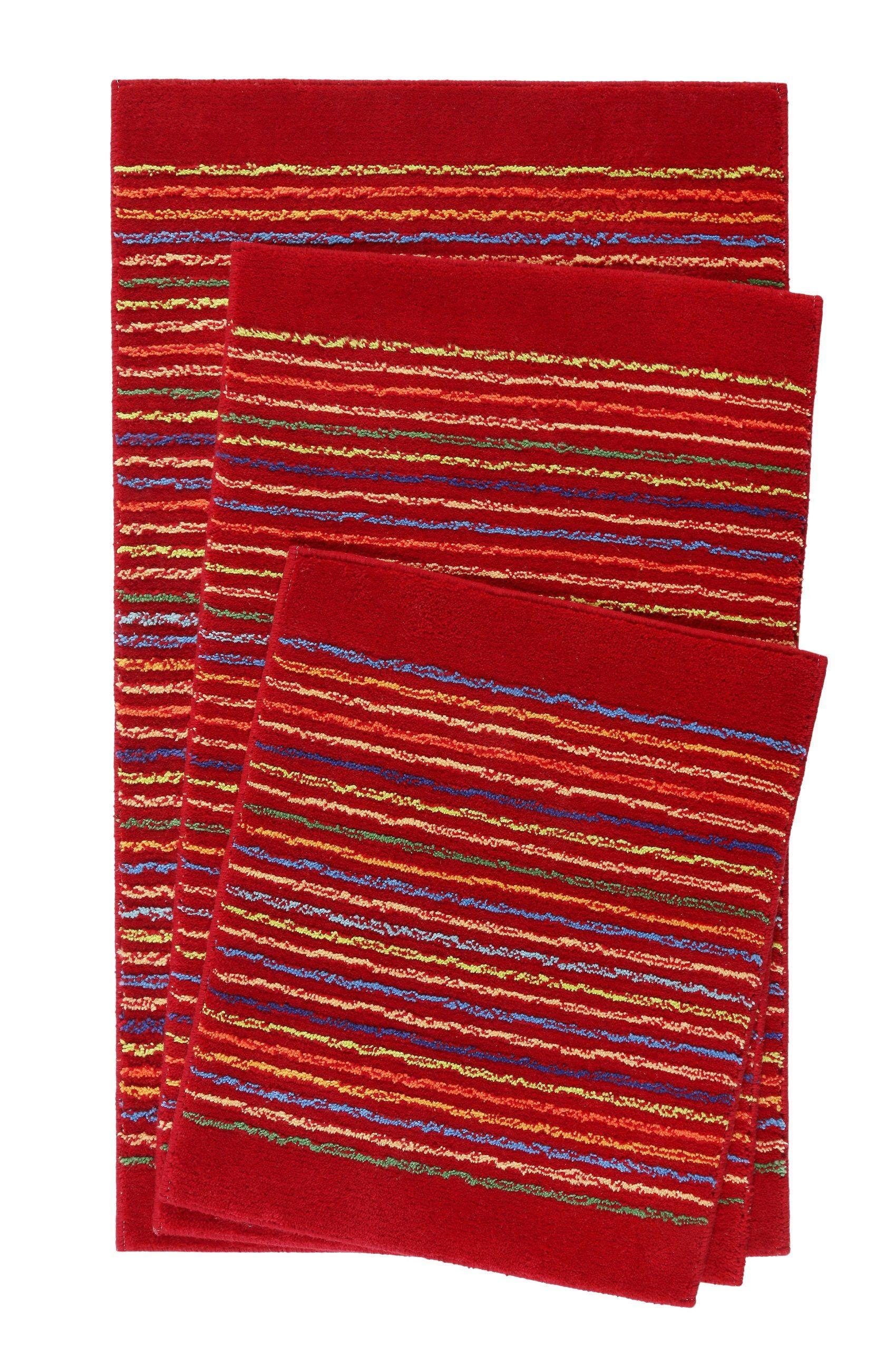 Esprit Badteppich Rot Cool Stripes Badteppich Badematten Set Badezimmerteppich