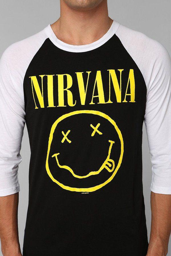 99854fb553f Urban Outfitters Nirvana Raglan Tee on shopstyle.com