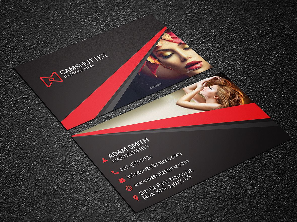 Photography Business Card 50 - http://graphicpick.com/downloads ...