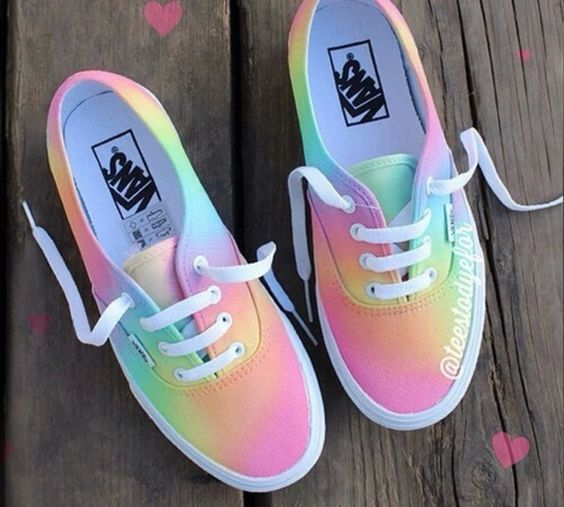 Colorful Vans Shoes For Women | Chaussures En 2018 Pinterest